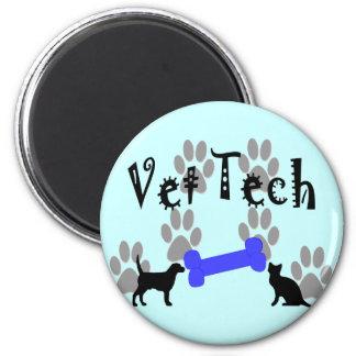 Vet TECH With Dog Bone Fridge Magnet