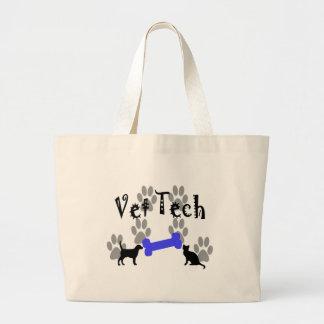 Vet TECH With Dog Bone Jumbo Tote Bag
