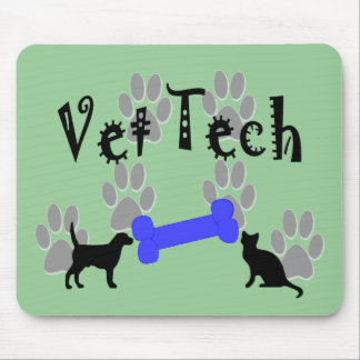 Vet TECH With Dog Bone Mouse Pad