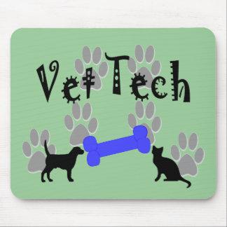 Vet TECH With Dog Bone Mousepads