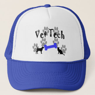 Vet TECH With Dog Bone Trucker Hat