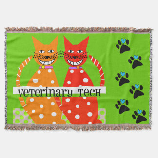 Vet Tech Woven Blanket Cats Throw Blanket