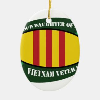 vet vet daughter ceramic ornament