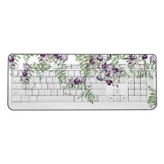 Vetch Wildflower Flowers Vine Wireless Keyboard
