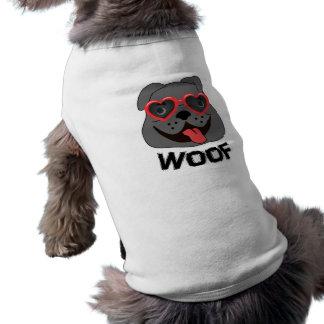 Vêtements drôles de bouledogue pour des chiens t-shirt pour animal domestique