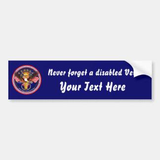 Veteran Customize Edit & Change background color Bumper Sticker