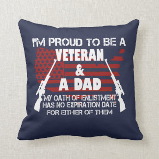 Veteran Dad Throw Pillow