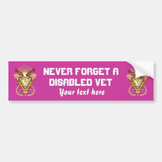 Veteran DAV View Artist Comments Below Bumper Sticker