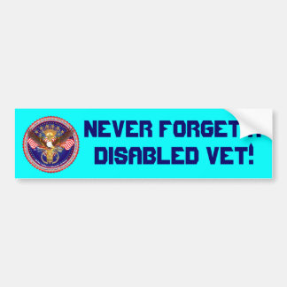 Veteran Disabled View About Design Bumper Sticker