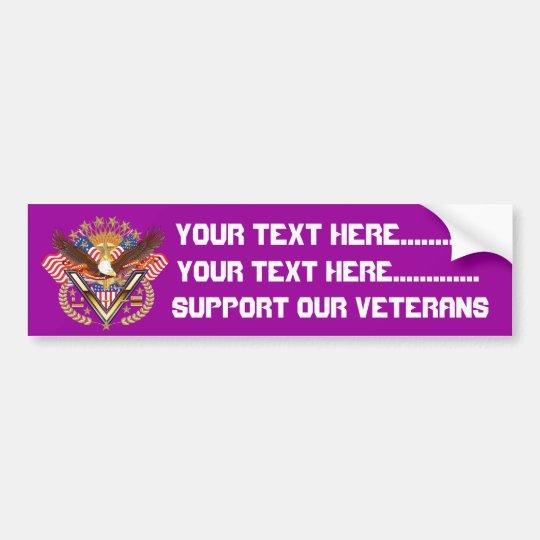 Veteran Friend or Family Member See Notes Plse Bumper Sticker