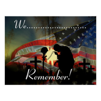Veteran Memorial Vale of Tears Remembrance Poster