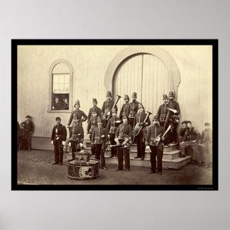 Veteran Military Band in Washington, DC 1865 Poster