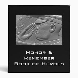 Veteran Military Hero Album Binder