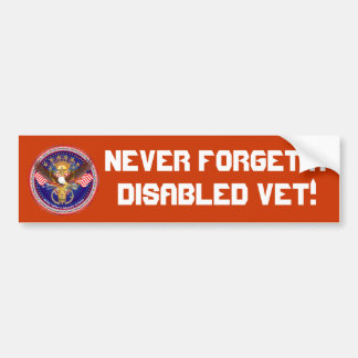 Veteran Military View About Design Bumper Sticker