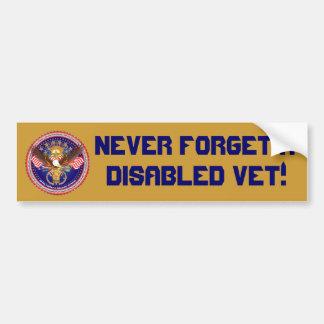 Veteran Military View About Design Car Bumper Sticker