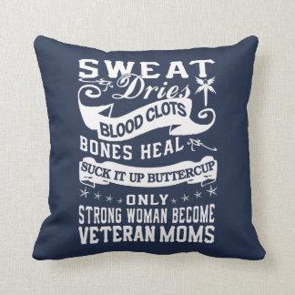 Veteran Moms Throw Pillow