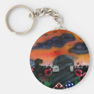 Veteran Remembrance Basic Round Button Keychain
