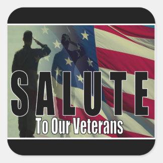 Veteran Salute Square Sticker