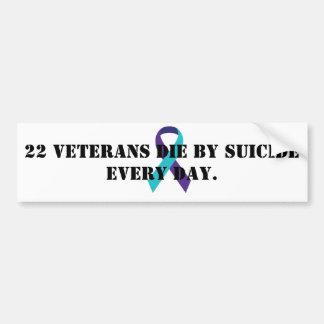 Veteran suicide awareness bumper sticker