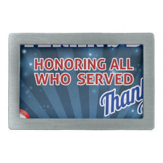 Veterans Day American Flag Background Belt Buckles