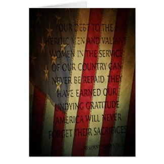 Veterans Day Harry S. Truman Card