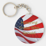 Veterans Day Honouring those who Served Basic Round Button Keychain