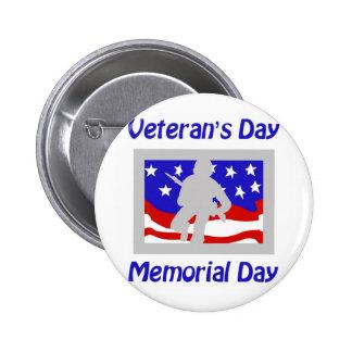 Veteran's Day/Memorial Day 2 Inch Round Button