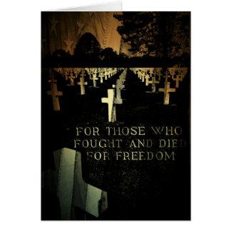 Veterans Day Normandy Beach Card