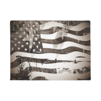 Veterans Day Normandy Beach Doormat