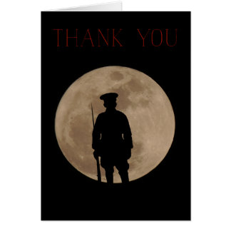 Veterans Day Thank You card. Card