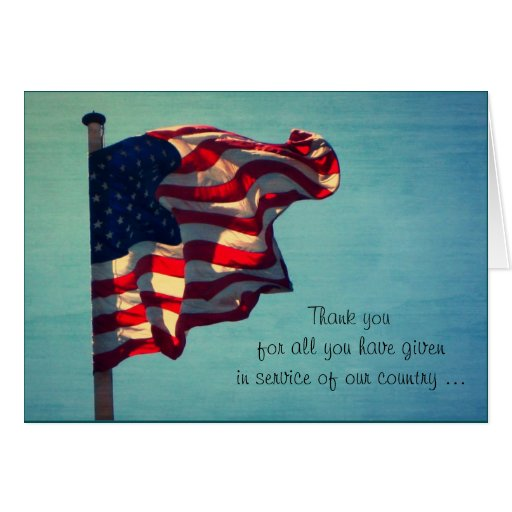 Veterans Day, Thank You - Military Greeting Card | Zazzle