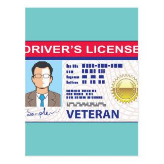 Veterans Driver's License Postcard