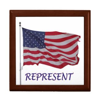 veteran's flag represent jewelry box