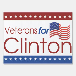 Veterans for Clinton Medium Yard Sign
