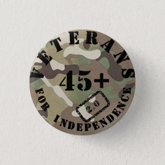 Veterans For Independence 2.0 Camo Badge 1 Inch Round Button