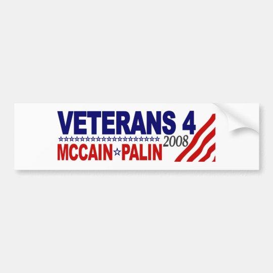 Veterans for McCain Palin 2008 Bumper Sticker