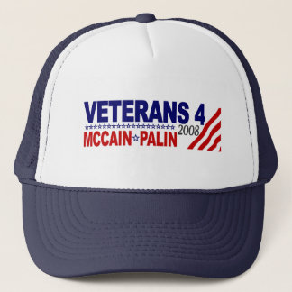 Veterans for McCain Palin 2008 Trucker Hat