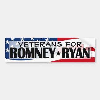 Veterans for Romney/Ryan Bumper Sticker