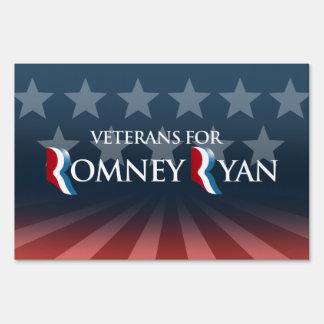 VETERANS FOR ROMNEY RYAN -.png Sign