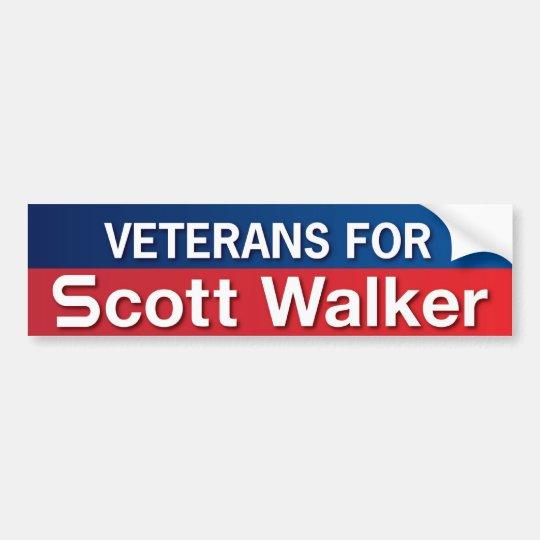 Veterans for Scott Walker Bumper Sticker