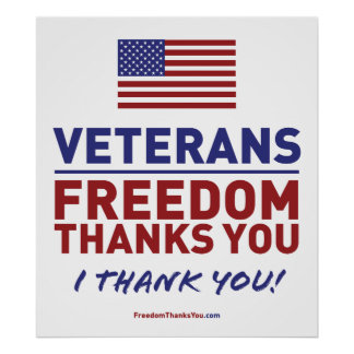 Veterans, Freedom Thanks You. Poster