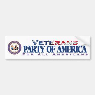 Veterans Party of America Bumper Sticker