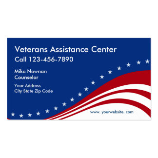 Veterans Themed Business Card