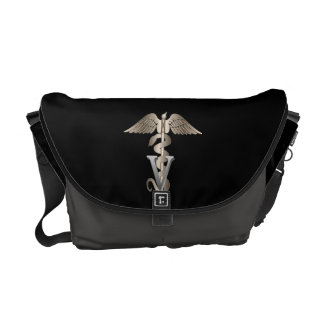 Veterinarian Caduceus Messenger Bags