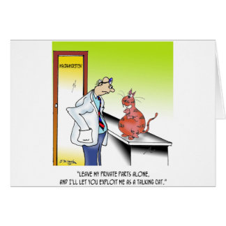 Veterinarian Cartoon 9480 Card