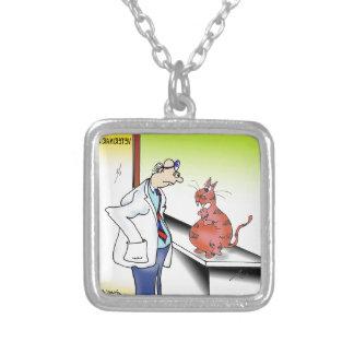 Veterinarian Cartoon 9480 Silver Plated Necklace