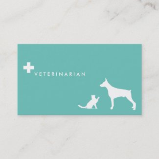 Veterinarian cross ı business card