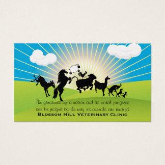 Veterinarian Dancing Animals Business Card