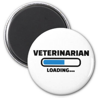 Veterinarian loading 2 inch round magnet