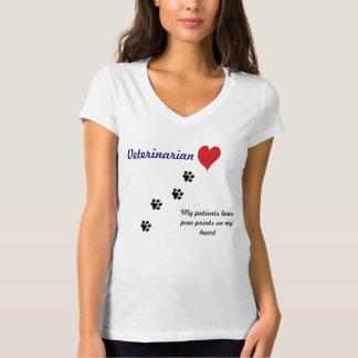Veterinarian-Paw prints on my heart #2 T-Shirt